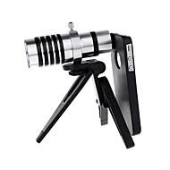 Grossissement de 12x téléphone mobile télescope téléobjectif de l'appareil photo avec optique le trépied pour iPhone 4/4S