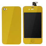 Yellow LCD Screen Touch Digitizer Assembly With Back Cover for iPhone 4s