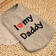 Cat / Dog Shirt / T-Shirt Gray Dog Clothes Summer / Spring/Fall Hearts Cute / Casual/Daily