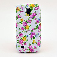 Värikäs Roses Pattern Takakansi TPU pehmeä suojakotelo Samsung Galaxy S4 Mini I9190