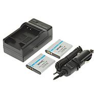 ismartdigi 950mAh Bateria Camera (2pcs) + carregador de carro para OLYMPUS SZ12 SZ31 SZ11 SZ30 XZ-1 PENTAX D-LI92