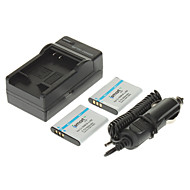 ismartdigi 950mAh Batteri (2st) + Billaddare för OLYMPUS SZ12 SZ31 SZ11 Shorts Sz30 XZ-1 PENTAX D-LI92