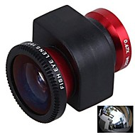 3-in-1  0.67X Wide Angle Lens Fisheye180 Degree Lens Macro Lens Set for iPhone 4/4S (Assorted Colors)