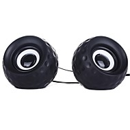 Musik-F Hög kvalitet Stereo USB 2.0Multimedia Speaker E-11 (svart + vit)