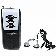 Dekko DK-9921 Sport Mini Auto Scan FM Radio w / Stereo koptelefoon - Zwart