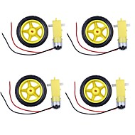 2 in1 TT Motor + Wheel for DIY Robot Set -Yellow + Black   (4 PCS)