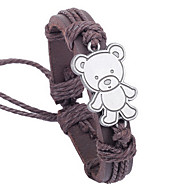 z&x® teddy nasjonale 25cm menns skinn wrap armbånd (1 stk)