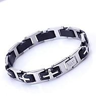 Gepersonaliseerde Gift Men's Jewelry RVS en siliconen Gegraveerde ID Armbanden 1,2 cm Breedte