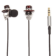 Skull-Shaped Stereo In-Ear Headphone(Red Hat)