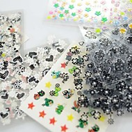 30PCS 3D Design Nail Art Stickers Tips for Manicure (Mixed Random Styles)