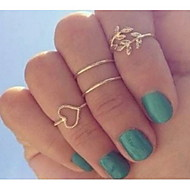 Naisten midi-sormukset (4kpl)