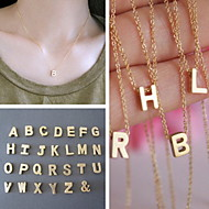 shixin® europeisk enkel kedja med alfabetet guldlegering hängsmycke halsband (1 st)