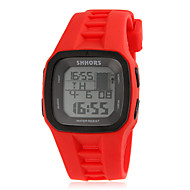Men's Multi-Functional Fashionable Square Dial Silicone Band LED Digital Sport Watch (Assorted Color)