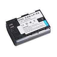 digital video batteri ersätter Canon LP-E6 för Canon EOS 5D Mark II och mer (7.4V, 2200 mAh)
