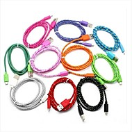 Braided Fabric 6ft Micro USB Sync Charger Cable for Samsung Galaxy Note 4/S4/S3/S2 and HTC/LG/Sony