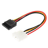 4 Pin IDE til 15-PIN seriel ATA SATA HDD Power Cable (0,15 M)