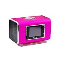 NIZHI TT6 muzyczny Mini Portable Speaker MP3 z gniazdem FM / TF karty - Niebieski / Złoty / Purpurowy