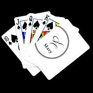 Personlig gave White Signature Style spillekort