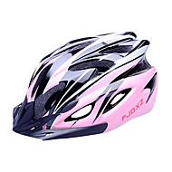 FJQXZ EPS+PC Pink Integrally-molded Cycling Helmet(18 Vents)
