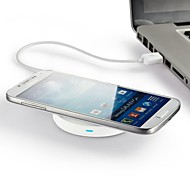 Wireless Power Charger Pad for Samsung Galaxy iPhone LG Nexus 5(White Base Inner Ring Random Color)
