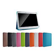 Για Samsung Galaxy Θήκη με βάση στήριξης / Ανοιγόμενη / Οριγκάμι tok Πλήρης κάλυψη tok Μονόχρωμη Συνθετικό δέρμα Samsung Tab 3 10.1