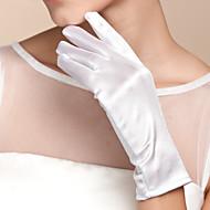 Polslengte Vingertoppen Handschoen Satijn Bruidshandschoenen Lente Zomer Herfst