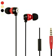 Muoti Awei Q38i 3.5mm Plug In-Ear Magnesiumseoksesta Super Bass-kuulokkeet-(Four Color)