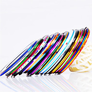 12PCS 12-Color nastro della striatura linea Nail Stripe Tape decorazione Nail Art Sticker
