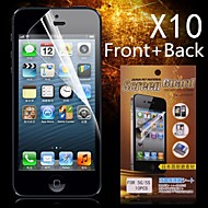 Protective HD Front + Back Screen Protector for iPhone 5/5S(10PCS)