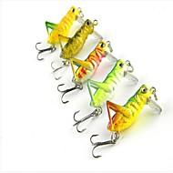 Señuelos de pesca caliente 4cm Venta 3g insecto langosta (5 x) color al azar