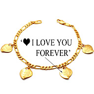 Damen Bettelarmbänder vergoldet Liebe Schmuck Für Alltag