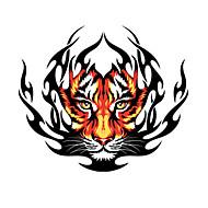 Fire Tiger Pattern Decorative Car Sticker
