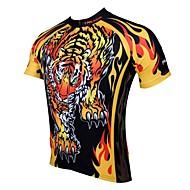 PALADIN Ciclismo Blusas / Camisa Homens Moto Respirável / Resistente Raios Ultravioleta / Secagem Rápida Manga Curta 100% PoliésterAnimal