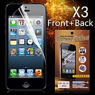 Protective HD Front + Back  Screen Protector for iPhone 4/4S(3PCS)