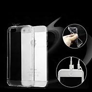 Para Capinha iPhone 5 Case Tampa Transparente Capa Traseira Capinha Cor Única Macia TPU para iPhone SE/5s iPhone 5