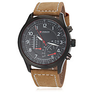 Men's Watch Military Fighter Jet Design Leather Band