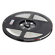 Vanntett 5M 48W 600x3528 SMD Cool White Light LED Strip lampe (DC 12V)