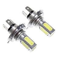 H4 7.5W White Light LED for Car Lamp (12V,2pcs)
