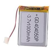 3.7V 1000mAh Lithium Polymer batteri for mobiltelefoner MP3 MP4 (4 * 40 * 50)