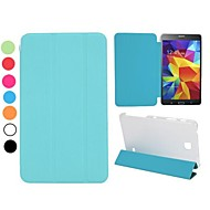 Toothpick Grain Folding Stand Auto Sleep/Wake Leather Case for Samsung Galaxy Tab 4 7.0 T230
