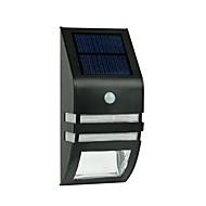 2-LED in acciaio inox luce della parete solare con PIR sensore di movimento