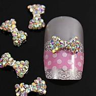 10stk krystal ab rhinestones perler butterfly 3d legering søm kunst dekoration