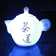 coway de theepot van zeven kleuren led nachtlampje chinese thee kunst