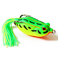 pesca rana cebo 60mm / amarillo 16g&paquete señuelo verde con dos ganchos