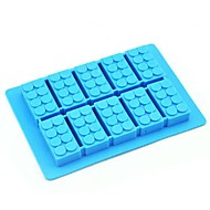 játék tégla forma szilikon jégkocka random színű (6.52x4.52x0.68 hüvelyk)