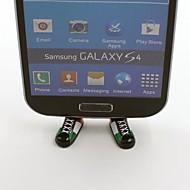 England Football Team National Flag Shoes Shaped Stand Bracket Dustproof Plug for Samsung S3 S4 S5