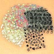 50Pcs 3D Design Tip Nail Art Sticker Decal Manicure Mix Color Flower 917
