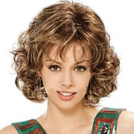 Fashion Lady Short Brown Blonde Mixed Curly Cosplay Full Wigs