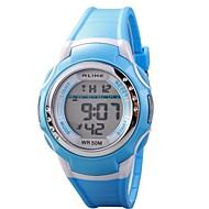 Children's Multi-Functional Round Dial LCD Digital Wrist Watch 50m Waterproof (Assorted Colors)