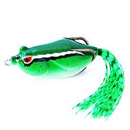 60mm rana cebo de pesca / pack señuelo verde 16g con dos ganchos